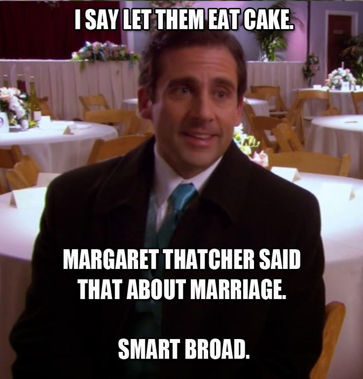 margaret%2Bthatcher the office isms michael scott memes