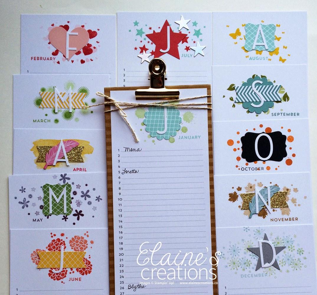Perpetual Calendar Stamp : Elaine s creations perpetual birthday calendar