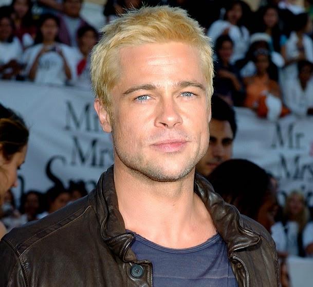 brad pitt with blonde hair, blond hair
