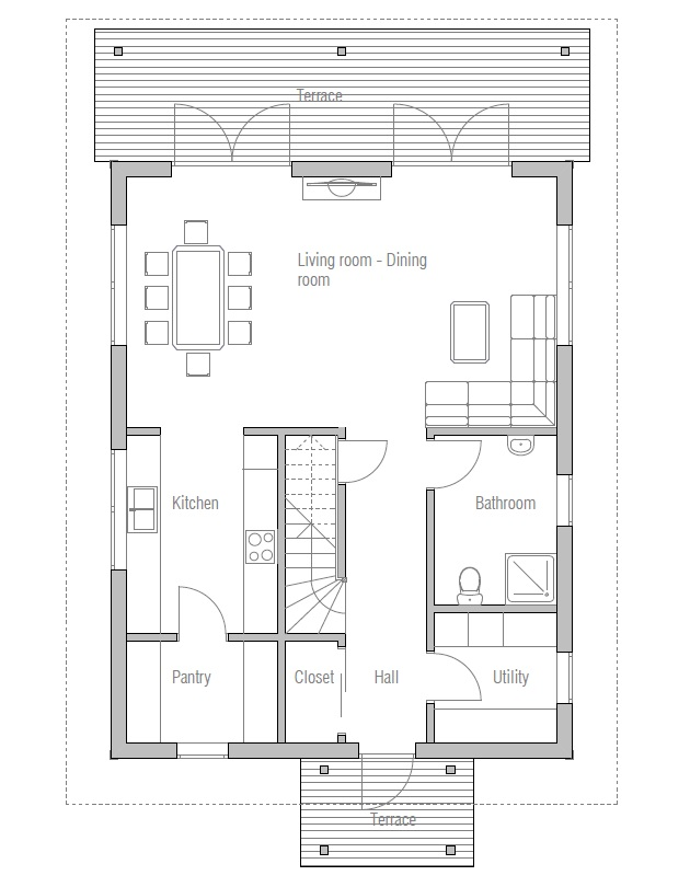 Affordable home plans affordable home plan ch41 for Affordable floor plans