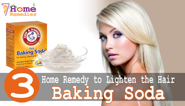 baking soda to make your hair light