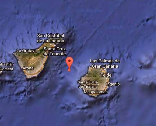 Terremoto entre Gran Canaria y Tenerife 4 noviembre