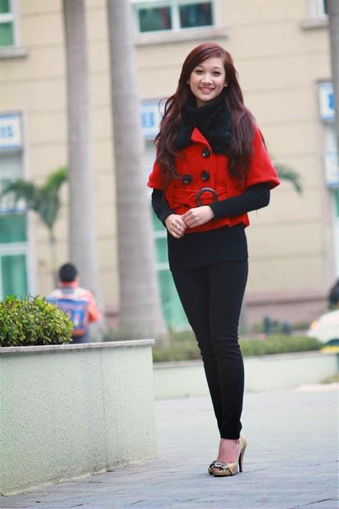 Hot girl Đồng Thúy Ngân sắc đỏ phá tan lạnh giá