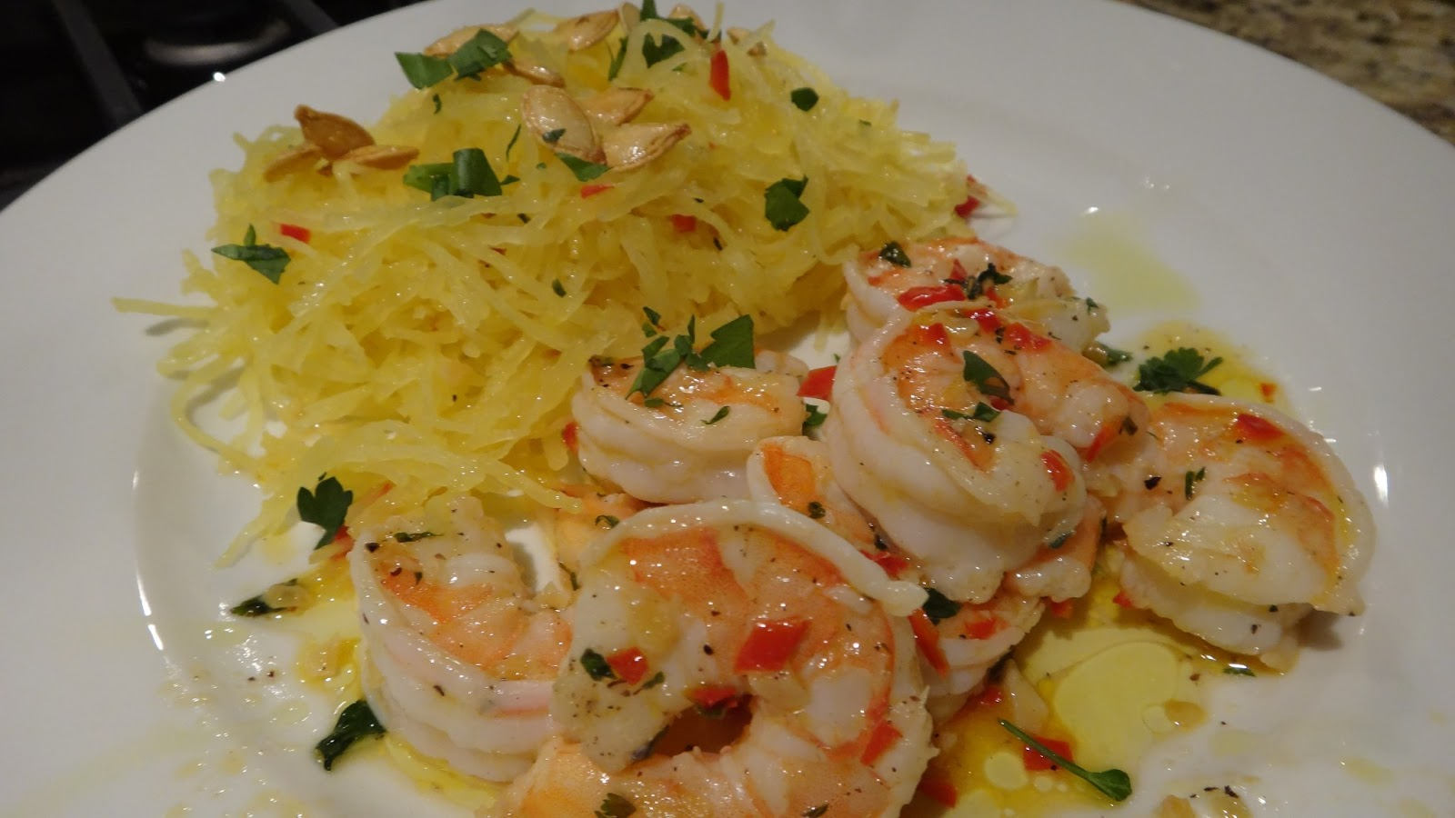 ... who wanted to know how i would prepare shrimps and spaghetti squash i