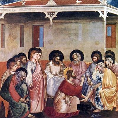 Jesus lava os pés dos discípulos