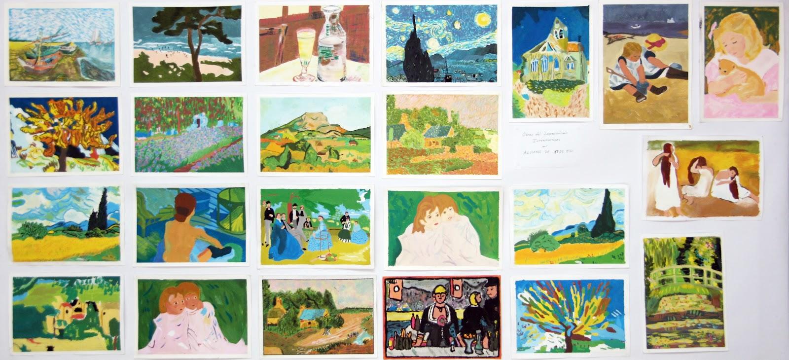 A b c d visual 1 eso cuadros impresionistas dibujados y for Cuanto cobrar por pintar un mural