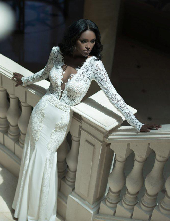 Wedding Event Dress That women love: Long Sleeves Bridal Gown: 2014 ...