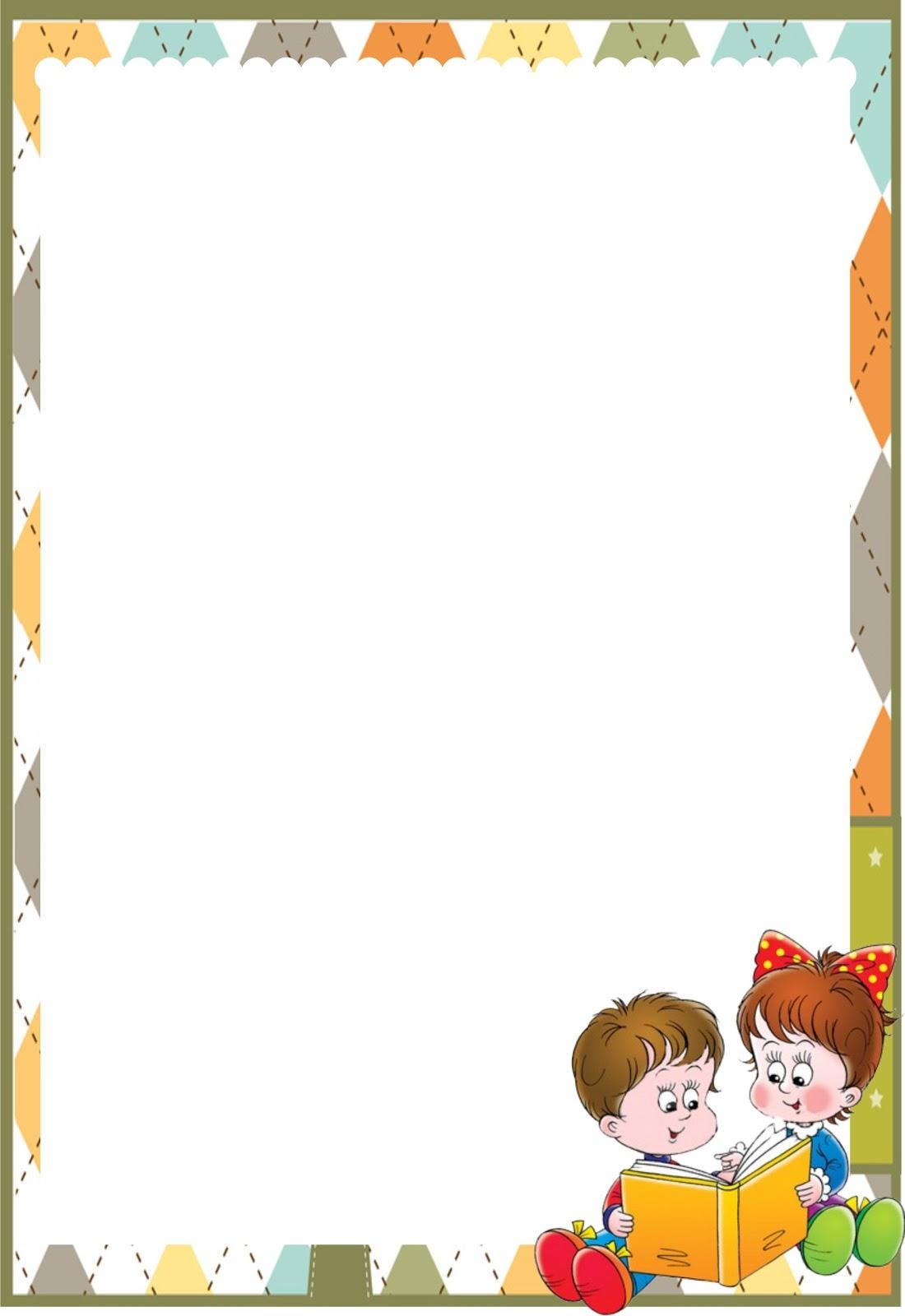 Bordes para caratulas de niños - Imagui