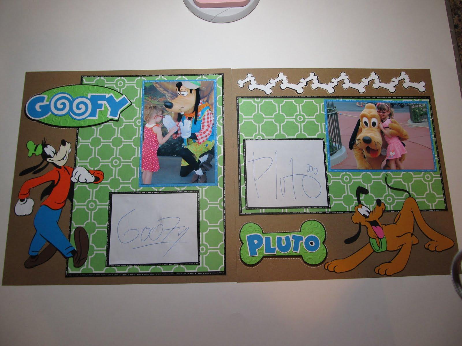 Disney scrapbook ideas - Goofy And Pluto Scrapbook Layout