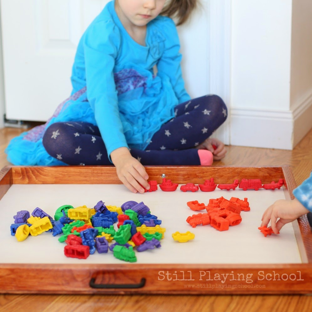 transportation math sorting counting and patterning with