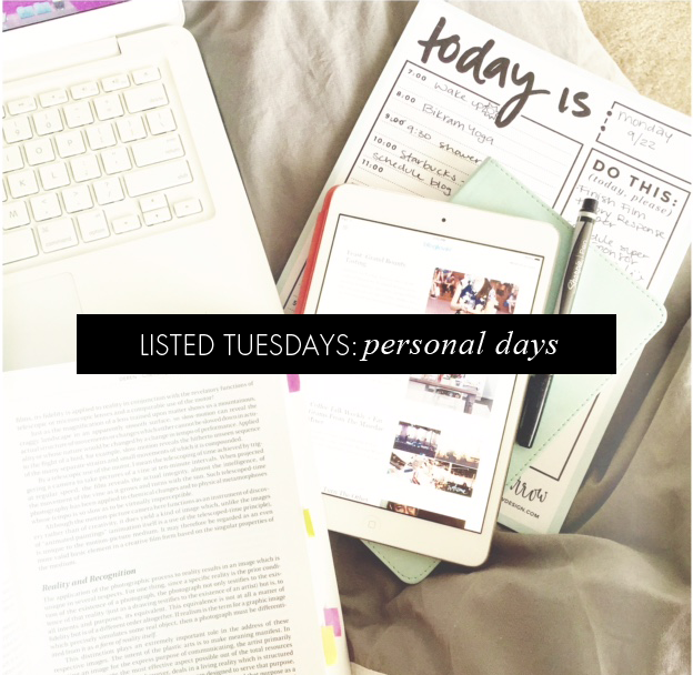 listed tuesdays: productivity