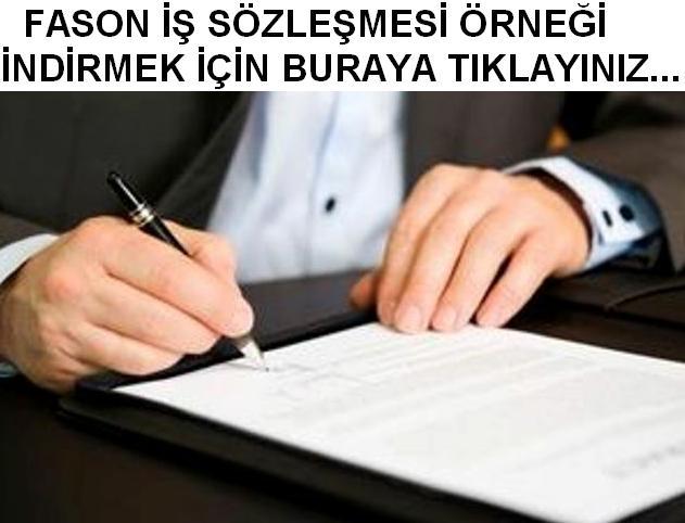 Fason iş sözleşmesi örneği indir fason iş sözleşmesi