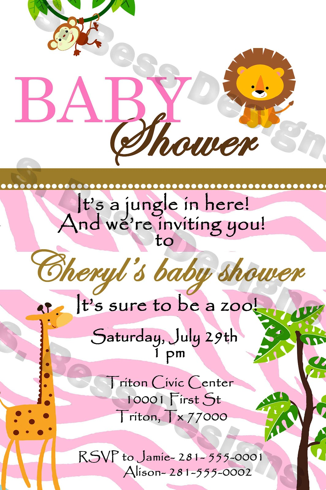 Baby Shower Invitations Animals as good invitation template