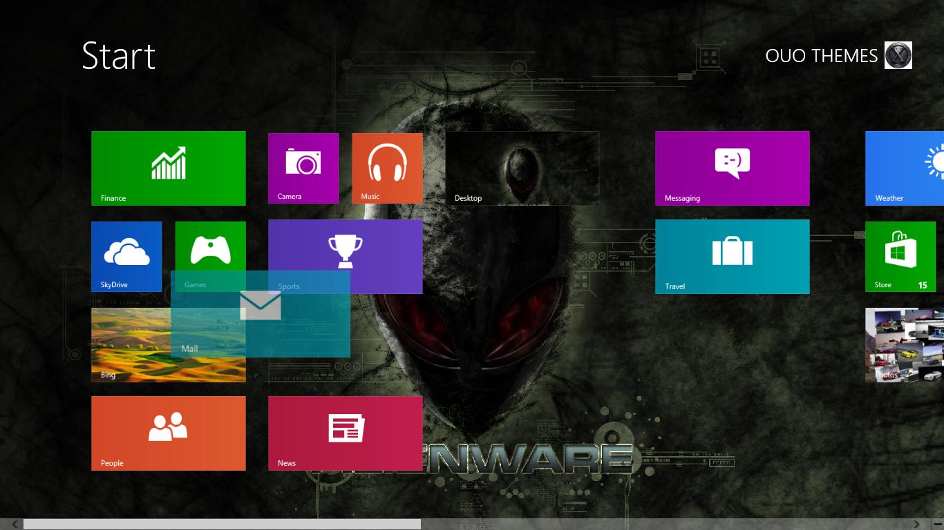2013 alienware theme for windows 8