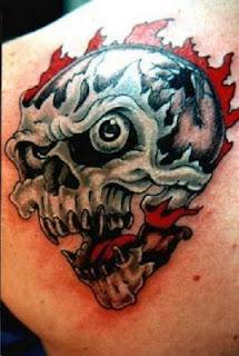 imagens e desenhos de Tatuagens de Caveira
