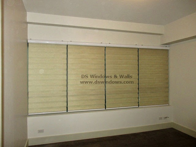 Combination Blinds installed in Large Window - Makati City