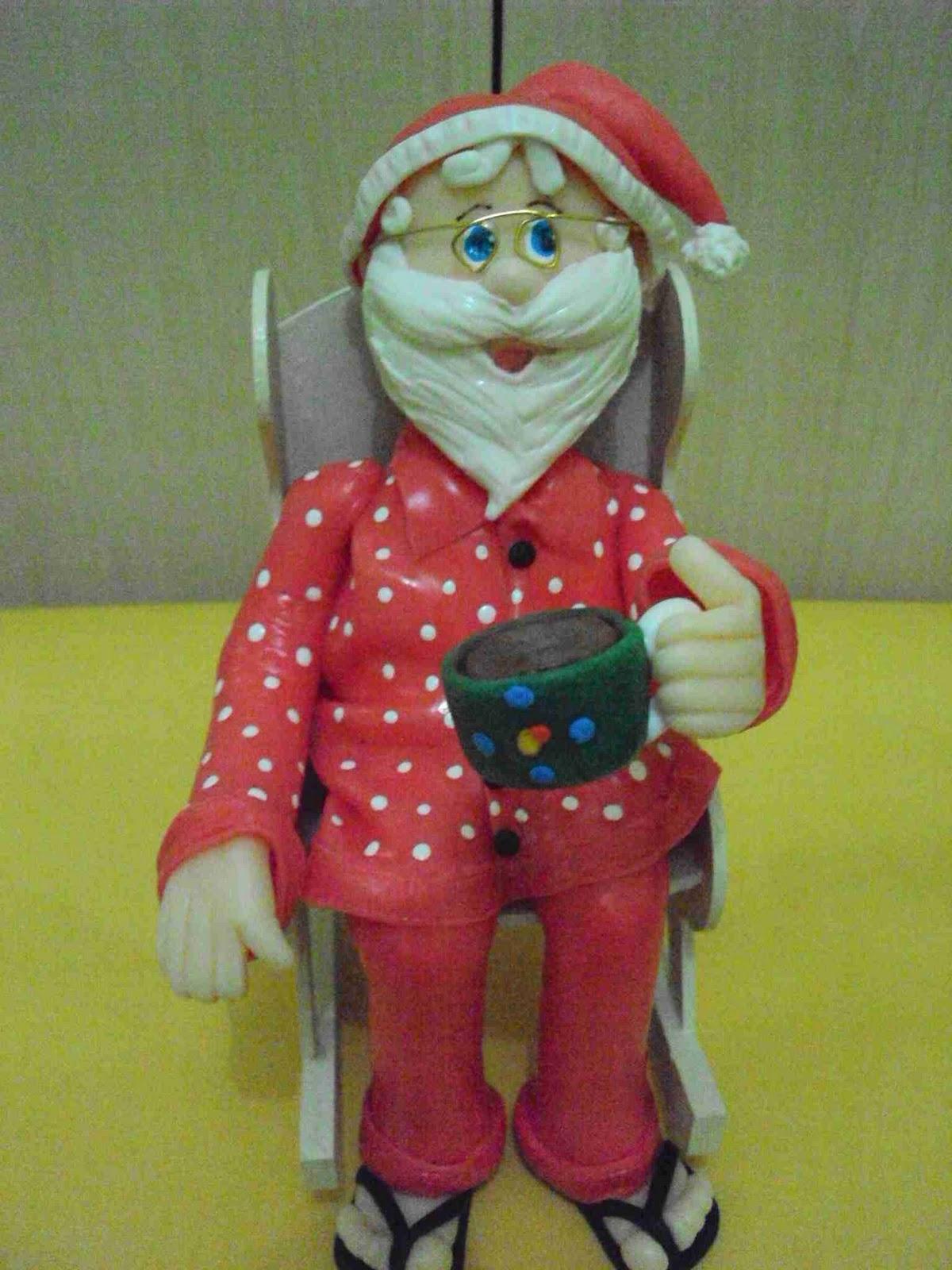 Papai Noel na cadeira de balanço #862B30 1200x1600