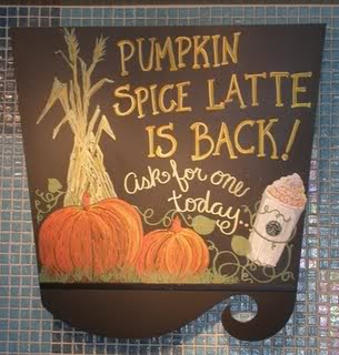 Image: Pumpkin Spice Latte Sign