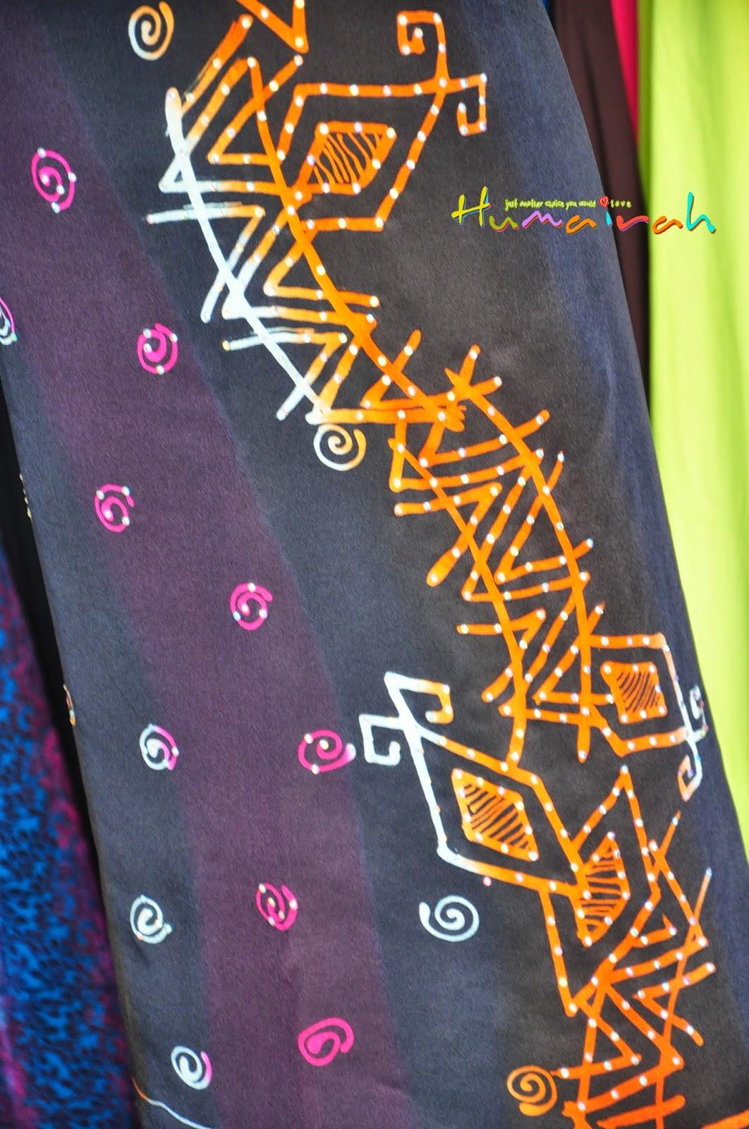 Batik Sutera Handmade Abstrack Hitam Siap Batu 4