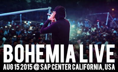 BOHEMIA Live in San Jose California at SAP Center Aug 15 2015 - pesa nasha pyar
