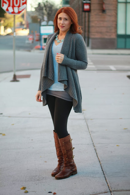 shawl, sweater, gray