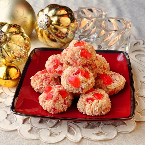 Easy Cherry Almond Macaroons