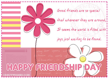 Orkut scraps images: Happy FRIENDSHIP DAY Orkut greeting card