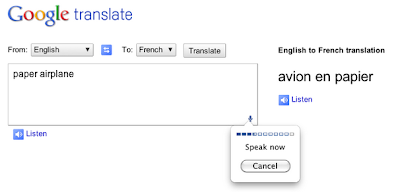 Google Chrome - mikrofon u Google Translate