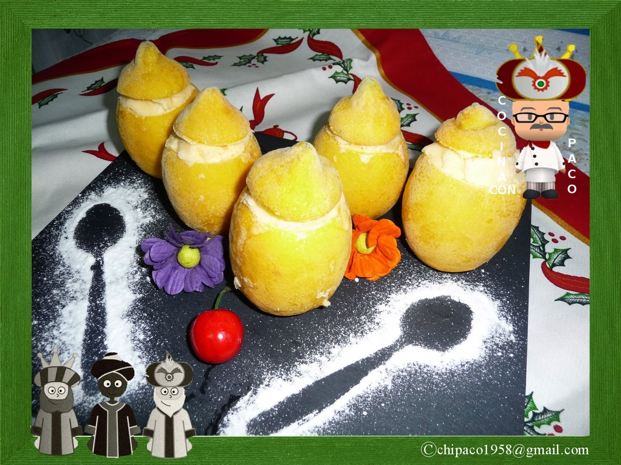 Cocina con paco limones helados - Cocina con paco ...