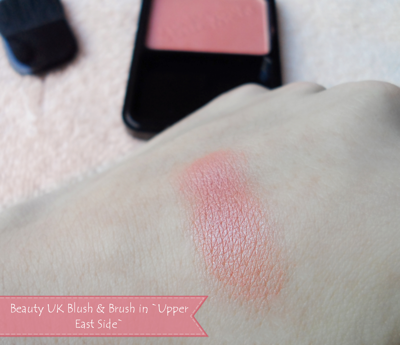 Beauty UK Blush & Brush upper east side swatch