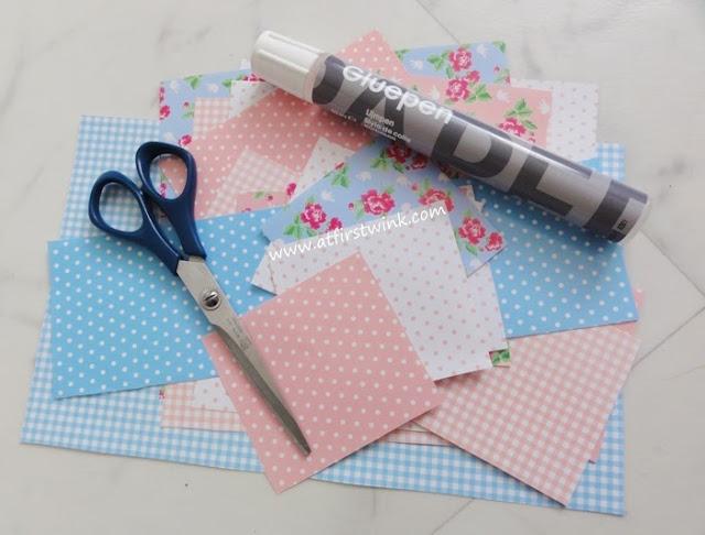 DIY met HEMA papierblok met prints