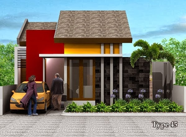 contoh rumah minimalis type 45