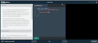 Belajar Java di CodecAcademy
