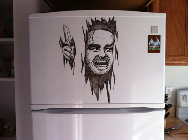 how to get whiteboard marker off fridge