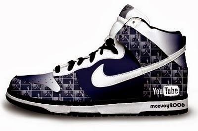 Nike SB Dunk Youtube Shoes Custom High Top