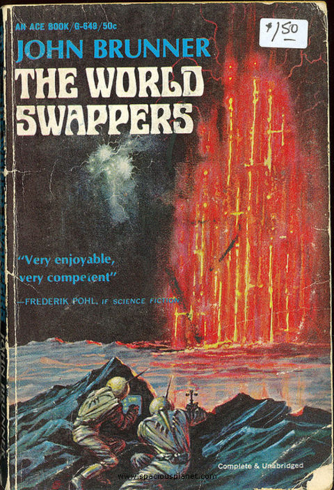 John Brunner The World Swappers awesome classic sci-fi book cover
