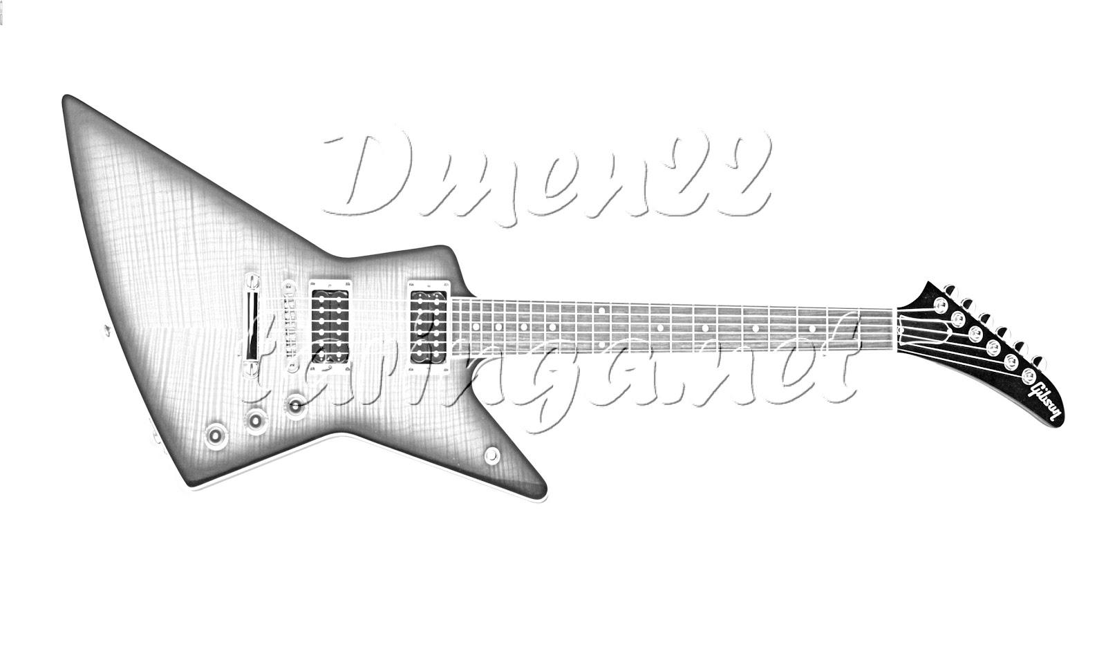 Dorable Fácil Guitarra Para Colorear Ornamento - Ideas Para Colorear ...