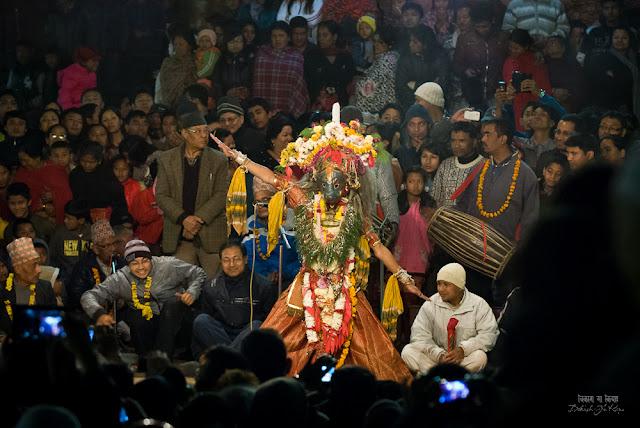 Kartik Naach dancer, Nepal