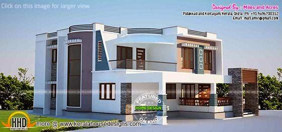 Contemporary home elevation