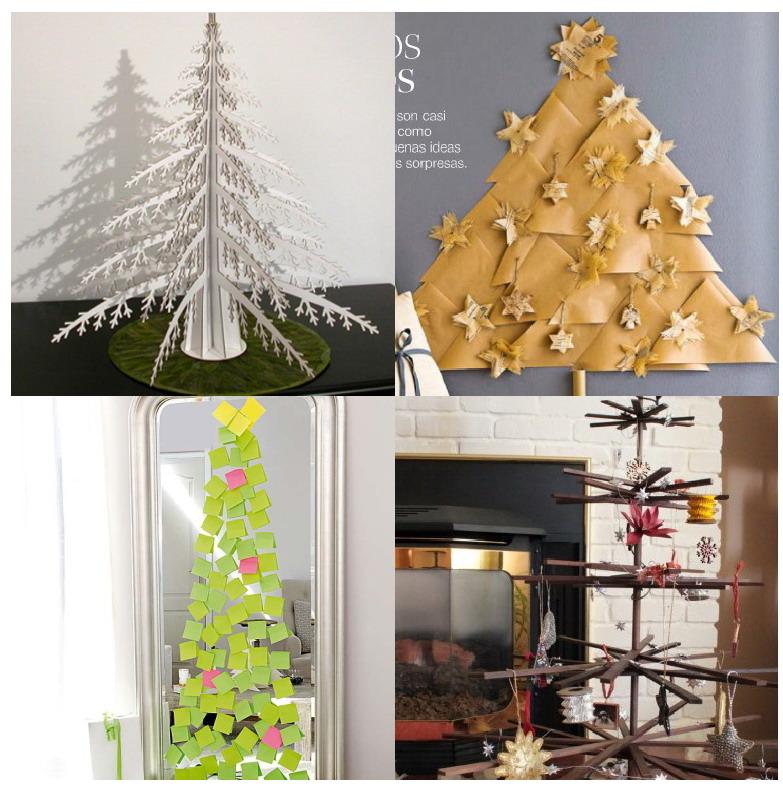 El mundo del reciclaje arbol de navidad eco - Arbol de navidad hecho en casa ...
