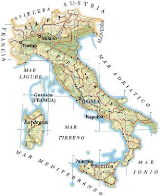 Mappa Regionale della Provincia d'Italia
