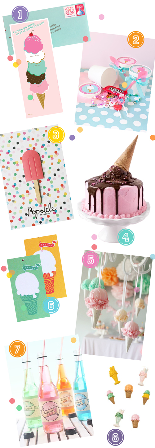 DIY icecream Baby Shower Via colourfulcarla.com