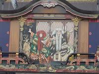 大手門通りの歌舞伎の飾り