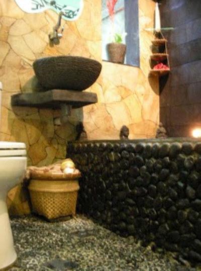 Dekorasi Kamar Mandi Dengan Batu Alam | Rumah Idaman Kita