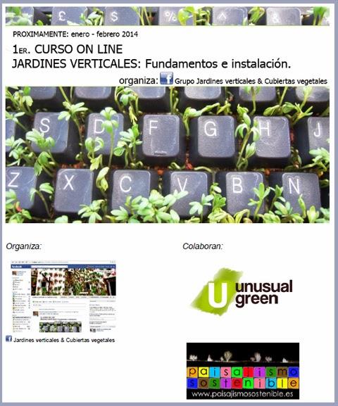 Curso online jardines verticales jardiner a y paisajismo for Jardineria online