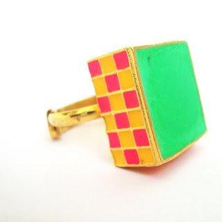 Aditi bhatt accessories, statement ring, enamel jewelry