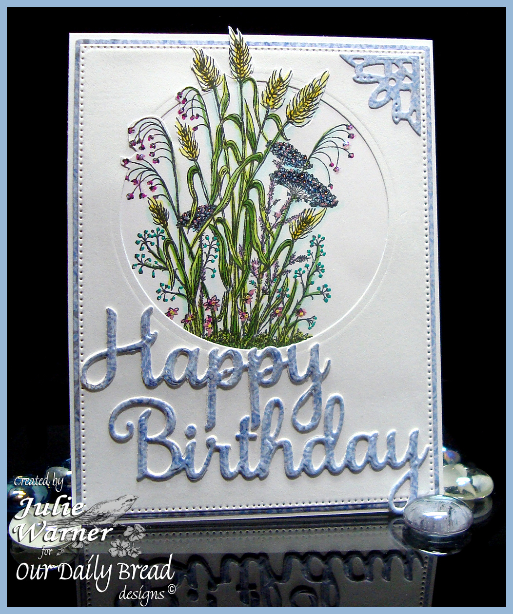 Stamps - Our Daily Bread Designs Life is a Gift, ODBD Christian Faith Paper Collection, ODBD Custom Happy Birthday Dies, Flourished Star Pattern Dies, Ornate Borders and Flower Dies