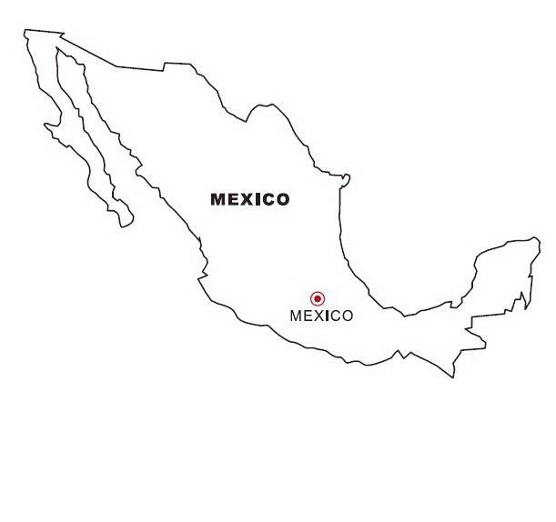 Mapa de México para colorear - Dibujo Views