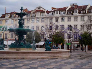 Rossio Square - Lisbon, Portugal