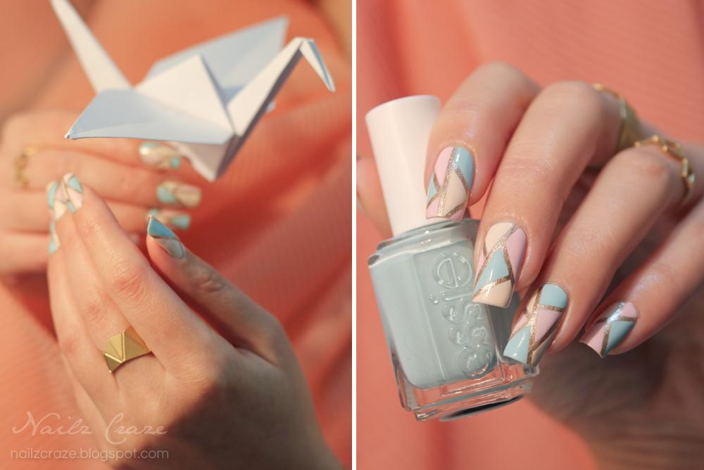 Jewelry & Nail Art: Origami In Pastel - Nailz Craze